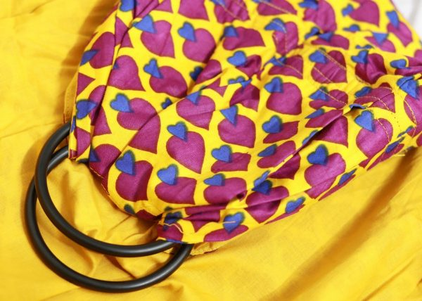 Double Layer Cotton Ring Sling Yellow