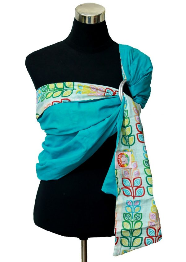 Mulmul Double Layer Ring Sling Blue