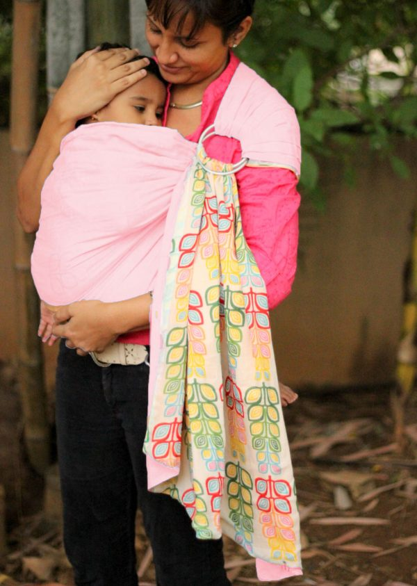 Mulmul Double Layer Ring Sling Pink