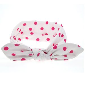 Cookiie Baby Headband pink white