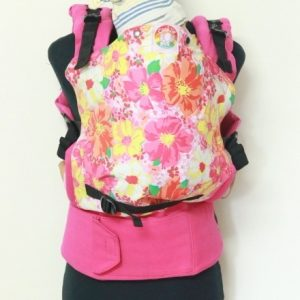 E-0004(3) Cookiie baby Carrier - Embrace -Pink Petunia flowers