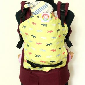 S-2020-- E-0005 (2) Cookiie baby carrier Original and Embrace - Doggy on Plum purple