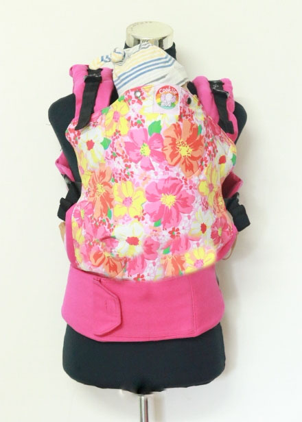 T-1010 (3) Cookiie baby carrier Toddler - Pink petunia flowers