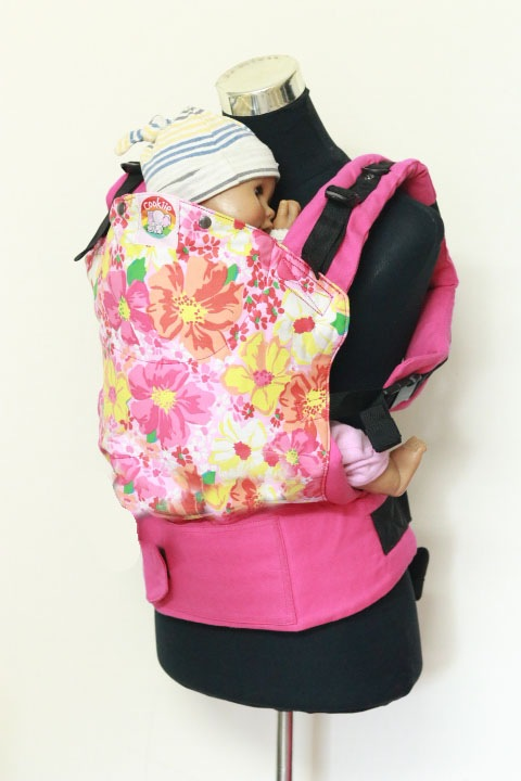 T-1010 (2) Cookiie baby carrier Toddler - Pink petunia flowers