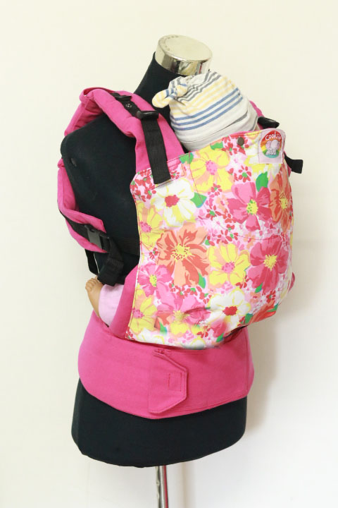 T-1010 (1) Cookiie baby carrier Toddler - Pink petunia flowers