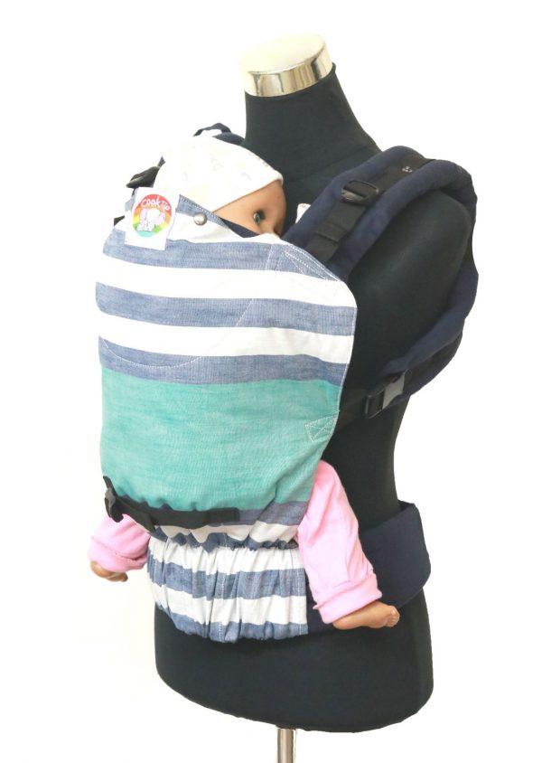 YOGA 7(4) Cookiie Linen baby carrier Stripe Tease