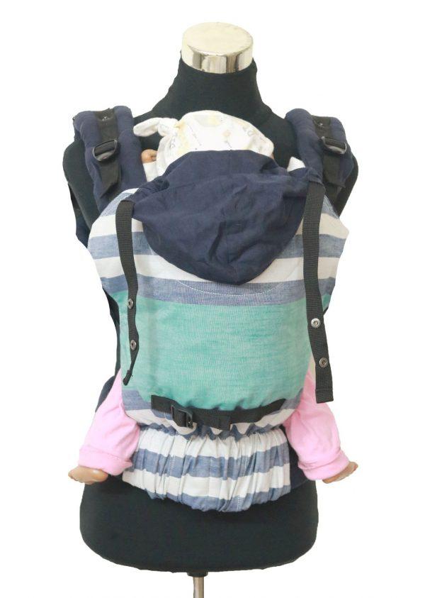 YOGA 7(2) Cookiie Linen baby carrier Stripe Tease