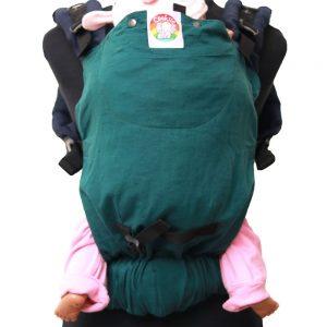 Cookie Ergonomic Linen Baby Carrier - Green