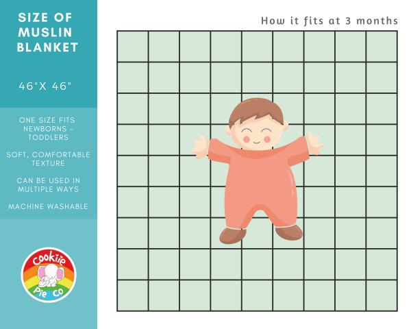 Cookie Muslin Baby Blanket Sizing - Muslin
