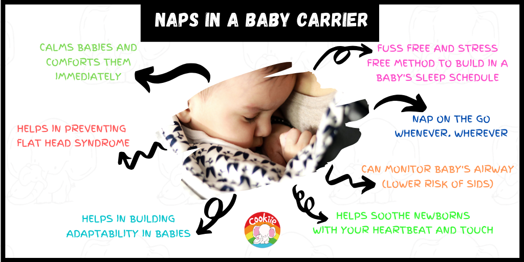 Naps in a baby carrier